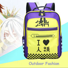 Anime No Game No Life Backpack School Bag Outdoor Fashion for teenager Gift NEW
