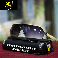 Men's Khan Shield Sunglasses Sports Biker Driving Fashion Casual Yellow New