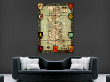 GAME OF THRONES MAP POSTER SEVEN KINGDOMS OF WESTEROS ART PICTURE PRINT LARGE