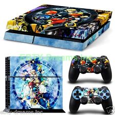Kingdom Hearts Video Game Sora Kairi Riku Skin Sticker Decal Protector for PS4
