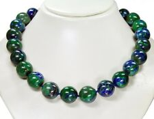 beautiful necklace from precious stones Azurite-Malachite in ball shape D-18mm