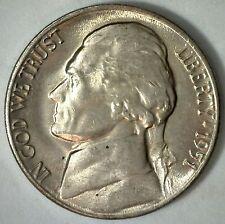 1951 D Jefferson Nickel UNC Five Cent Choice BU Coin Uncirculated