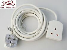 MASTERPLUG 1 Way Gang 3M Metre 13Amp Extension Lead Cable Plug Socket Mains