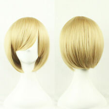 Golden Bob Short  Women's Cosplay Wig Party Wig Straight Wigs Full Hair Wig