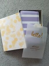 NIB -Webster's Pages 6-Ring Color Crush Personal Planner Leather A2 ~ Lavender