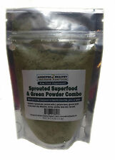 Sprouted SuperFood Green Powder Combo (4 oz) -Protein,Nutrients,Fiber & More