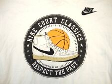 Nike Court Classic Shoes Sneakers Basketball Respect Kicks BBall T Shirt M