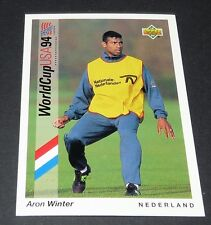 ARON WINTER LAZIO NEDERLAND FOOTBALL CARD UPPER DECK USA 94 PANINI 1994 WM94