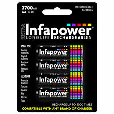 4 Pack Infapower B004 Rechargeable AA Ni-MH Batteries 2700mAh - Brand New