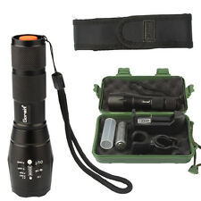 X800 shadowhawk 5000LM Zoomable XML T6 LED Tactical Flashlight +18650 Battery