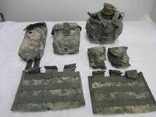 ACU Molle II 3 Mag Canteen Grenade IFAK First Aid Radio Pouches Ammunition VGC