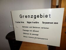 DDR NVA Grenztruppen Schild Grenzschild Grenze BERLIN East german Border sign (A