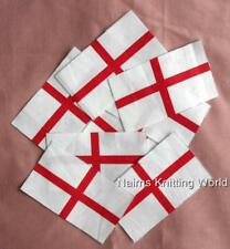 10 x 3.75 inch St. Georges, England, Cotton Fabric, Cut Outs, Applique Flags
