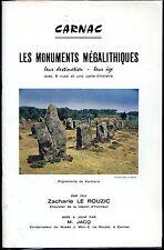 CARNAC - Les monuments mégalithiques - Z. Le Rouzic - Préhistoire - Morbihan