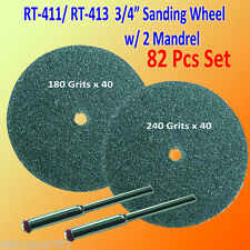"82 180 / 240 Grits 3/4""  Sanding Mandrel Disc Rotary Tool for Dremel 411 413 402"