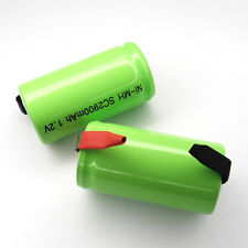 2 Sub C SubC With Tab 2900mAh Ni-MH rechargeable Battery cell pack Green