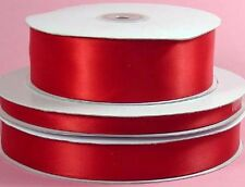 "100yds Double Face Satin Ribbon 5/8""x100yd ANY COLOR ~Elegant and Lovely Sheen"