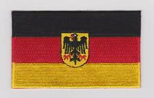 GERMAN FLAG PATCH IRON/SEW ON GERMANY Deutsche Flagge PATCH 100% EMBROIDERED