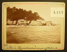 Photo c 1900 Île de Noirmoutier La grotte Saint-Philibert, Photographie ancienne