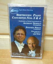 BEETHOVEN  PIANO CONCERTOS NOS. 2 & 4   Cassette  New sealed