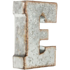 "7"" Rustic Marque Galvanized Vintage Metal 3D Letters- CAPITAL LETTERS AVAILABLE"