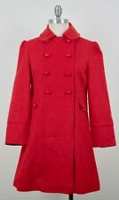 SOLD OUT! NWT Marc Jacobs Vintage Madras Red Military Wool Coat M $588