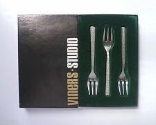 VINERS stainless 'STUDIO' PASTRY FORKS x 6 Boxed. Gerald Benney Sheffield
