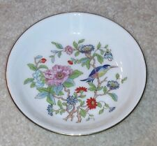 VINTAGE AYNSLEY PEMBROKE ENGLISH FINE BONE CHINA TRINKET COIN DISH FLORAL BIRD