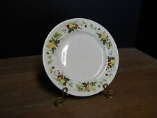 Bread & Butter Plate Miramont Royal Doulton England  Fruit On Rim Blue Flowers