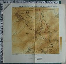 1918 WW1 WWI MAP III 3rd CORPS Sept 19-22 1st AUSTRALIAN - 12 58 74 18 Divisions