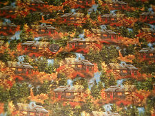 "Darrell Bush's Cabin in The Woods Cotton Fabric 1 Yard BY 45""W"