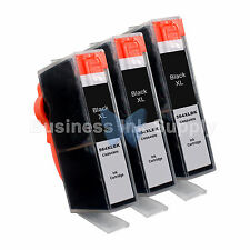 3 BLACK 564XL CN684WN New Ink Cartridge W/CHIP HP 564XL *INK LEVEL* 564XL for HP