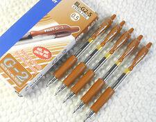 12pcs Pilot BL-G2-5 0.5mm extra fine roller ball pen Gel Type ink Caramel Brown