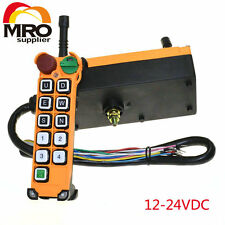 12-24VDC 10 Channel 1 Speed Hoist Truck Radio Remote Control System with Estop