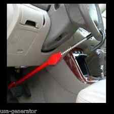 Steering Wheel Lock To Pedal The Club Car Theft Truck SUV Auto Van Universal RED