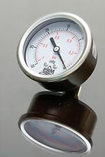 "-30-0 HG PRM Vacuum Gauge 2.5 Inch Stainless Steel Case Brass 1/4"" NPT Back NIB"