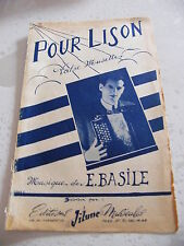 Partition Pour Lison E Basile Valse Musette