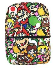 Nintendo Super Mario Brothers All Printed School Backpack Book Bag