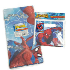 Amazing SpiderMan Birthday Party Set Table Cover & Goodie Bags Marvel Boy 102x54