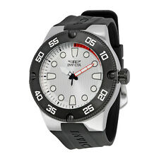 Invicta Pro Diver Silver Dial Black Silicone Mens Watch 18023