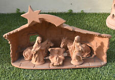 CAPANNA CON PRESEPE IN TERRACOTTA  CM 30  DA ESTERNO MADE IN ITALY