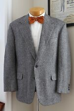 Gray Herringbone Tweed Jacket 40S H Freeman Son Nordstrom Wool Sport Coat USA