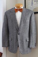Gray Herringbone Tweed Jacket 40S H Freeman Son Nordstrom Wool Sport Coat USA