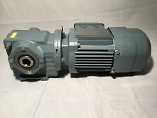 SEW EURODRIVE SA37 DR63M4/BR Gear Motor 144:1 Ratio 11 FRPM   With Brake