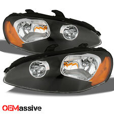 03-05 Dodge Stratus Coupe Black Replacement Headlights Headlamps Left + Right