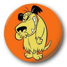 "Mutley  25mm 1"" Button Badge - Kids Retro TV Nostalgia 70's Wacky Races"