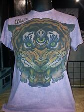 Men T Shirt short sleeve cotton Tiger Nature animal tattoo India Om M User Sure