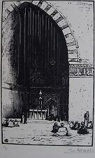 HALLO CHARLES-JEAN (1882-1969) : La mosquée du Sultan Hassan au Caire.signée