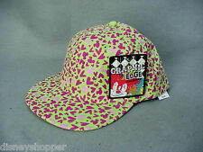 Mickey Mouse Green Baseball Cap with Pink Heads Disneyland Graphic Edge - NEW