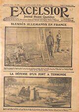 Fantassins Feldgrauen Blessés Poilus Bataille la Flandre Pont Termonde WWI 1914